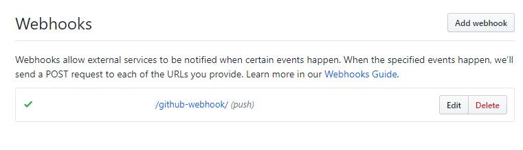 webhook result